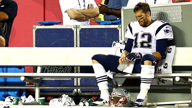 Brady practices his suspension